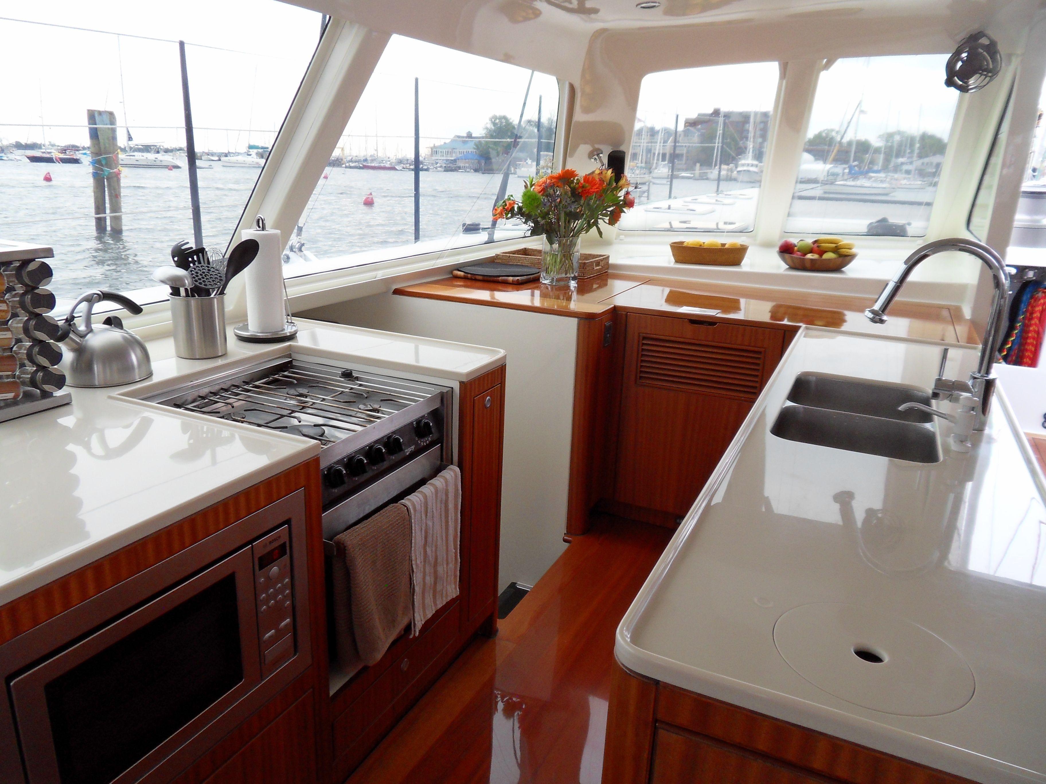Gunboat Galley Boat Galley Boat Interior Boat Restoration