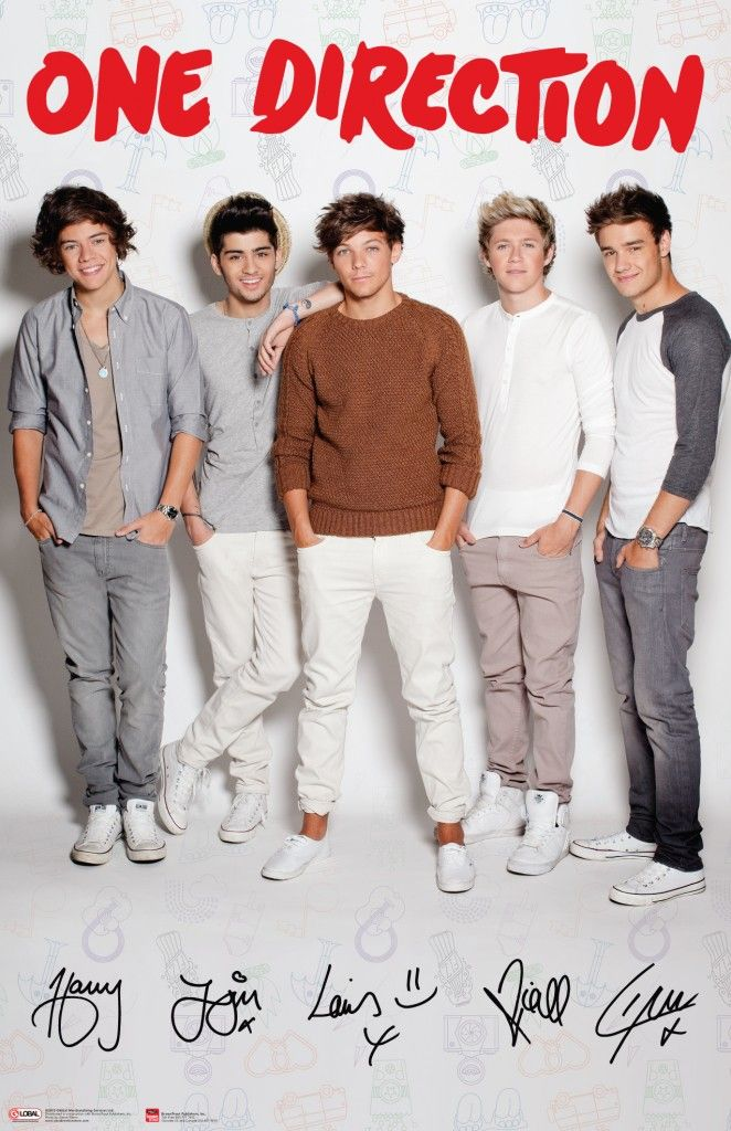 One Direction 2012 Posters One Direction Group Wh...