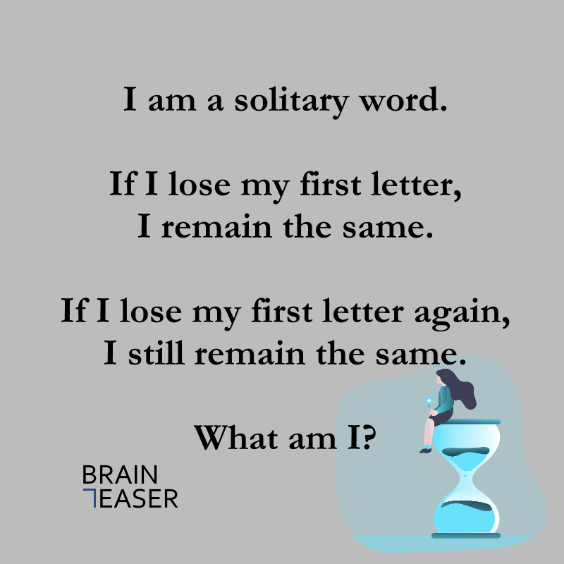 Solitary Word Riddle Word Riddles Word Brain Grammar Memes