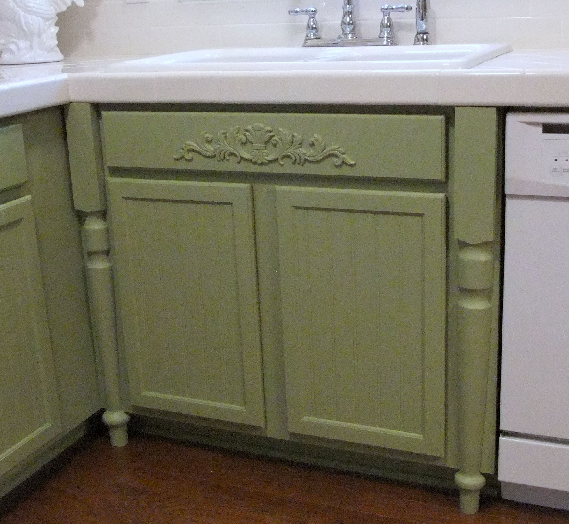 Love The Legs On This Kitchen Sink Cabinet...maybe Should Try This When I Paint The Cabinets