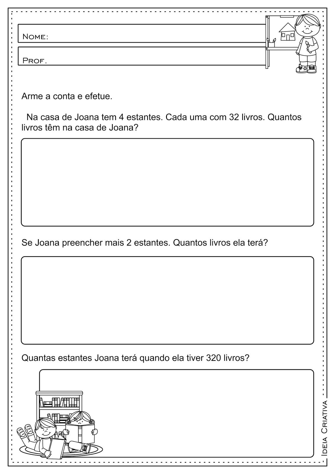 Atividades Educativas Operações Básicas (Subtração, Multiplicação ...