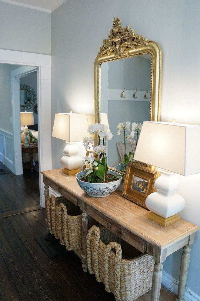 foyer console table and baskets the entry is a relatively on small entryway console table decor ideas make a statement with your home s entryway id=19061