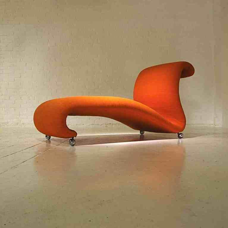 Chaise Longue Design By Verner Panton For Storz Palmer At Http Www 1stdibs Com Furniture Seating Chai Orange Chaise Verner Panton Designs Chaise Longue