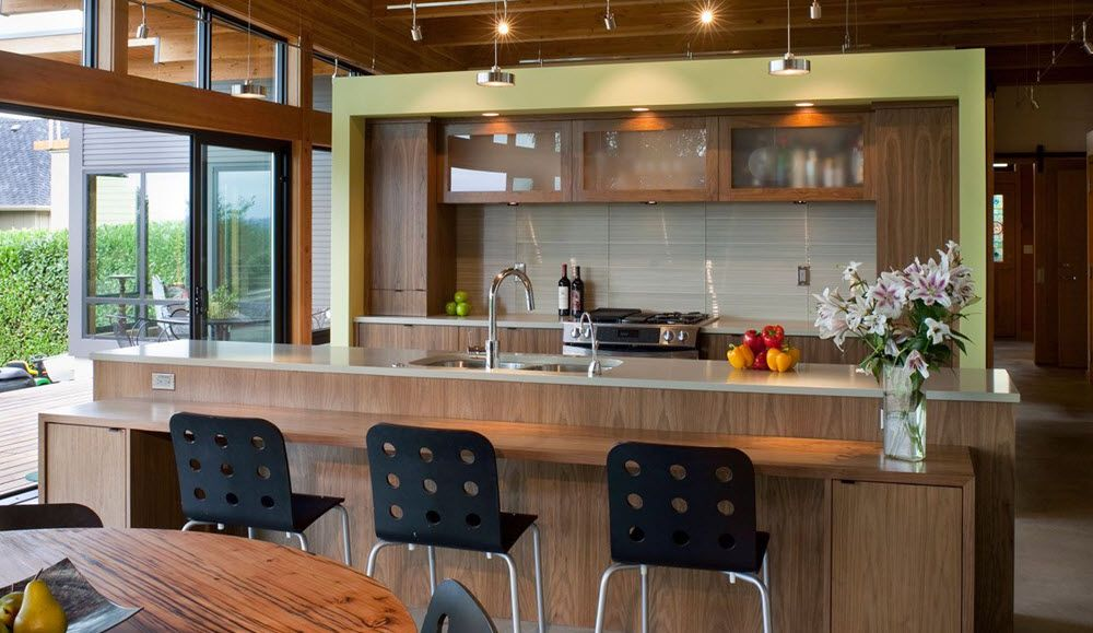 Moderno diseño de cocina isla Arquitectura Pinterest Diseño de
