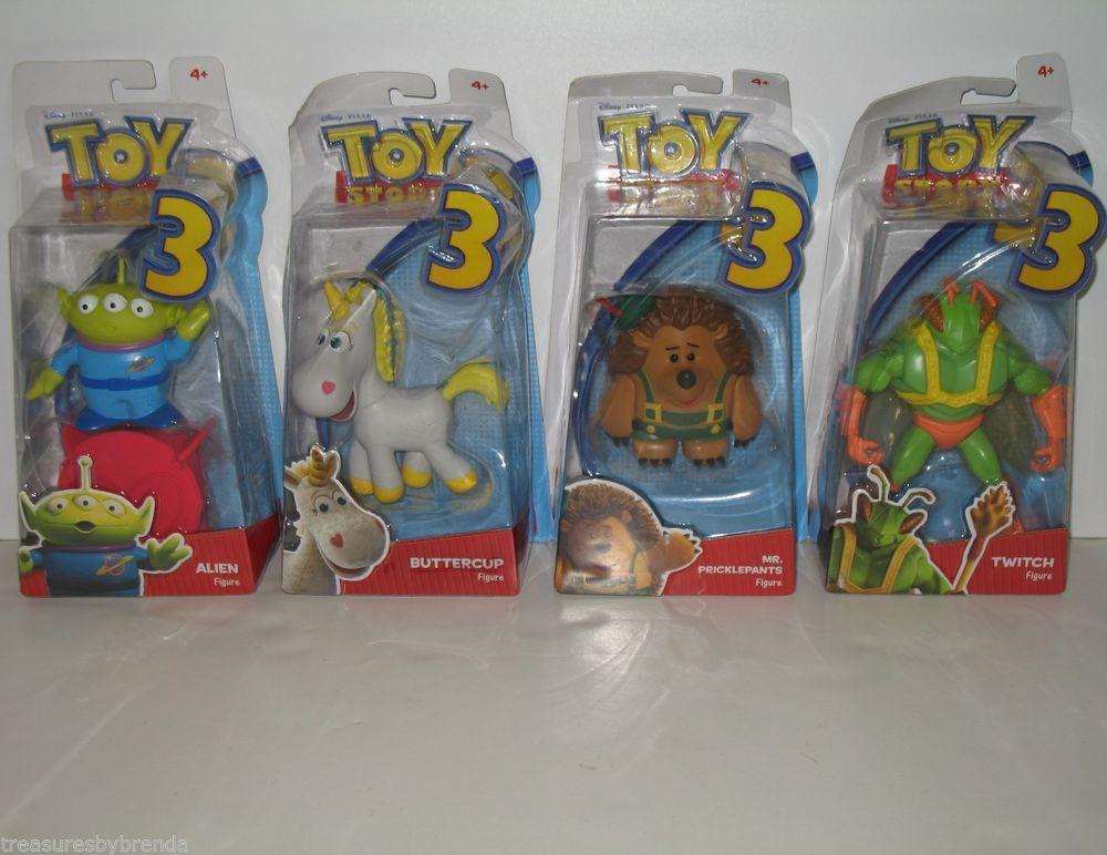 Toy Story Action Figures Set : Toy story woody buzz lightyear jessie bullseye alien keychain