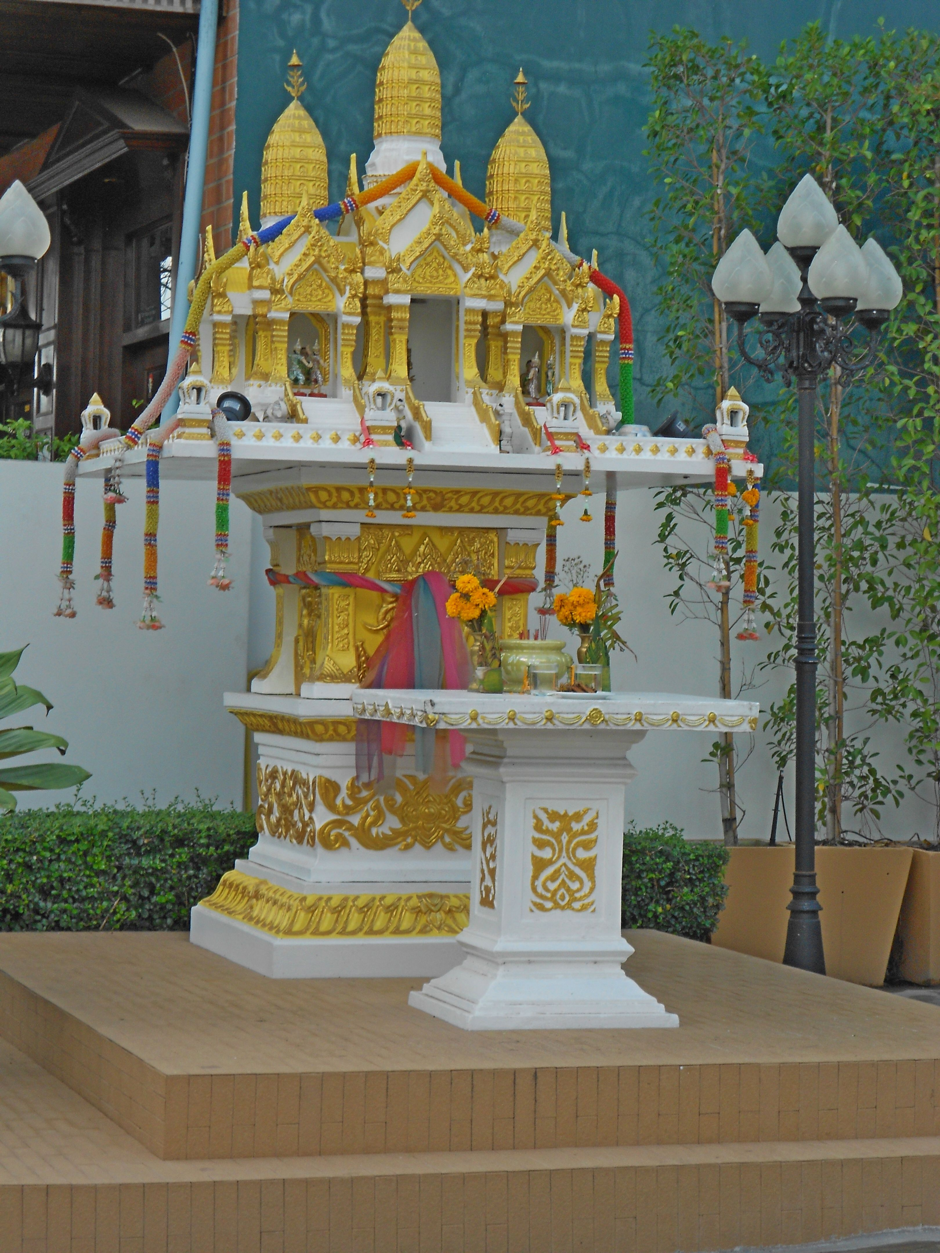 Nice example of a spirit house  Every building has one