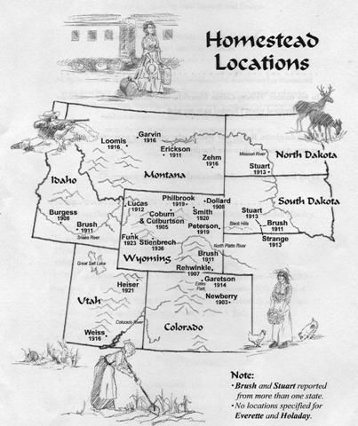 This A Map Of Where All The Homestead Locations Were In The Us