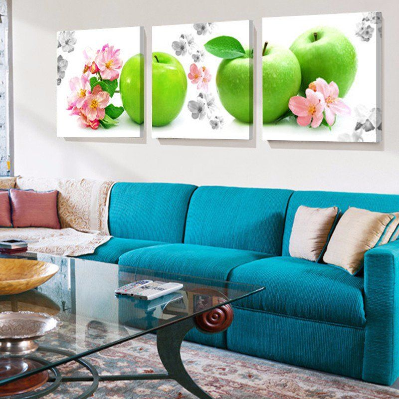 Green Apple Fruit Canvas Print Painting Wall Art Pictures Wall Art Pictures Wall Painting Canvas Prints
