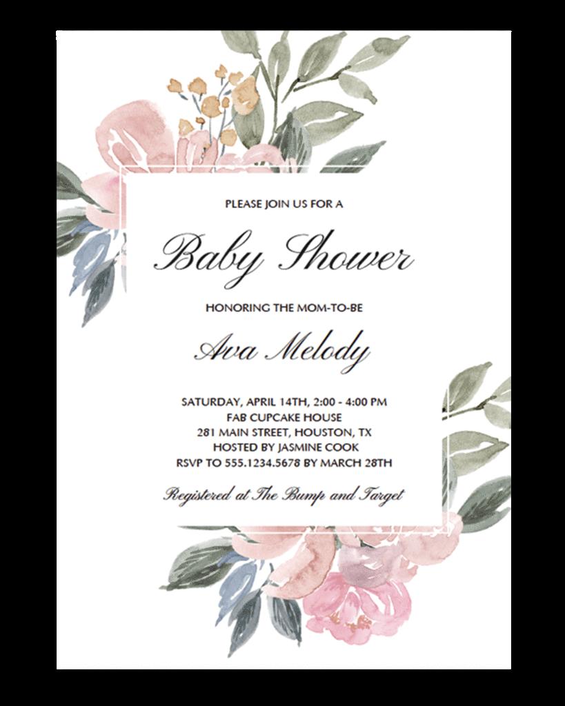 Floral Baby Shower Sign Pack Printable Wedding Pinterest