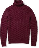 etro cableknit rollneck wool sweater