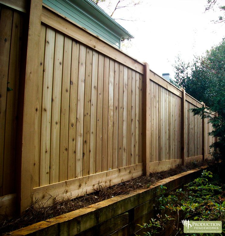 privacy fence the fence for the back yard fences nd gates pinterest more privacy. Black Bedroom Furniture Sets. Home Design Ideas