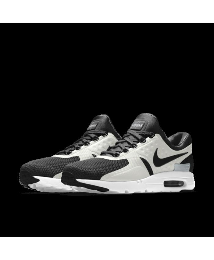 online retailer ac91e cd31c Nike Air Max Zero iD White Black Men s Shoes   Trainers Cheap