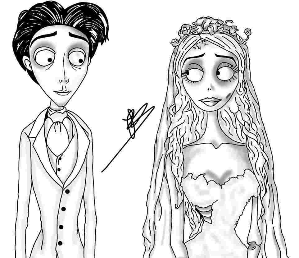 It's just a picture of Persnickety corpse bride coloring pages