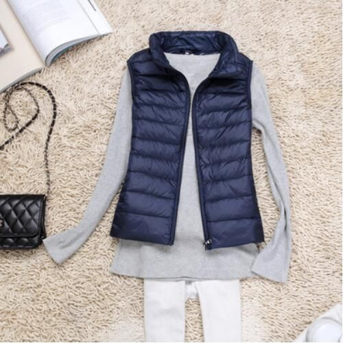 Winter Women Down Vest Fashion Female Sleeveless Vest Jacket Warm Down Jacket Plus Size Women Sleeveless Jackets Size S-XXXXL #womenvest