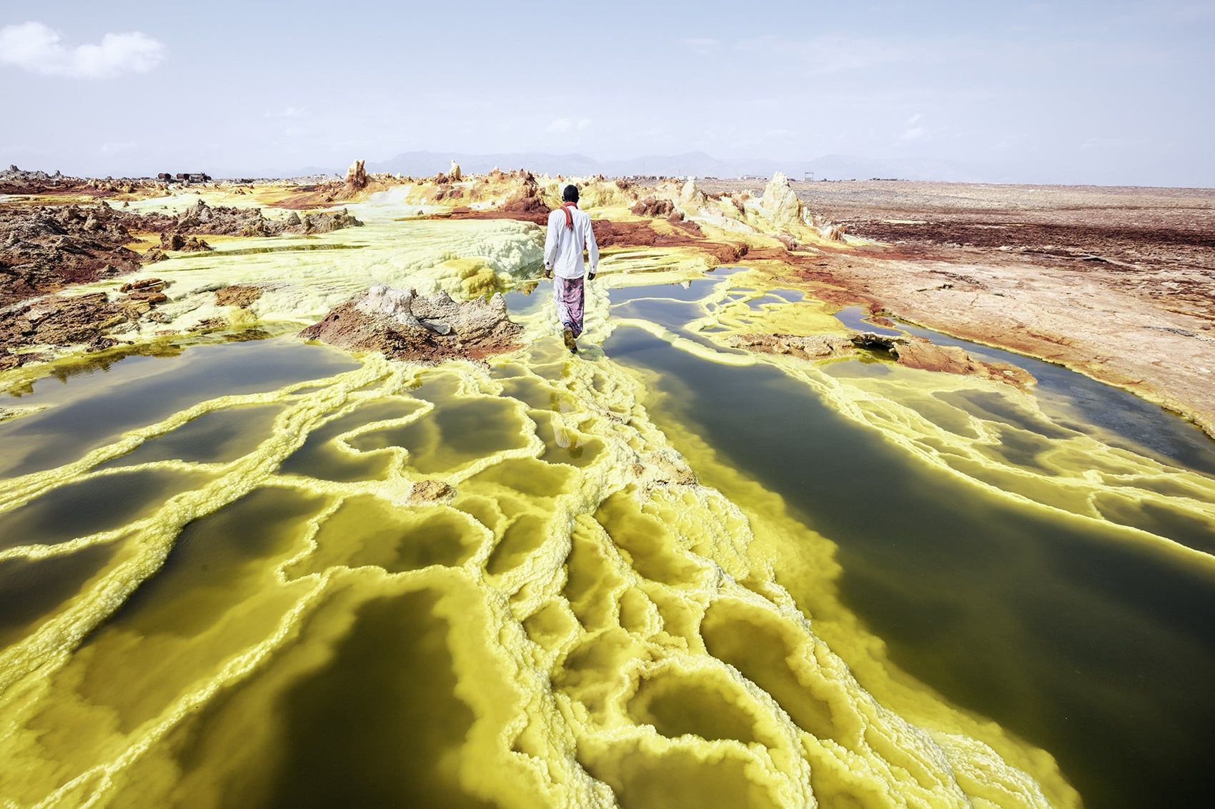 Endless stretches of salt, lakes with psychedelic colors and active volcanoes: this land, which is constantly changing, is heaven and hell together – an ancestral place where you can still watch the phenomena that gave rise to the world.Located in the northern part of the Afar's Triangle, which takes its name from the nomadic people …