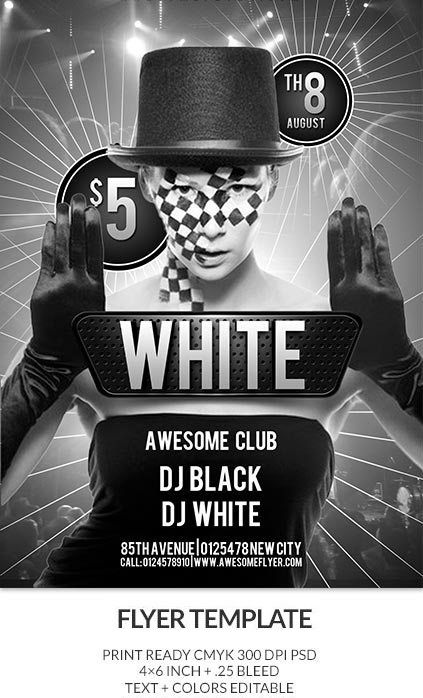 Best Flyer Templates Free Premium PSD Download Designs - Black and white flyer template free