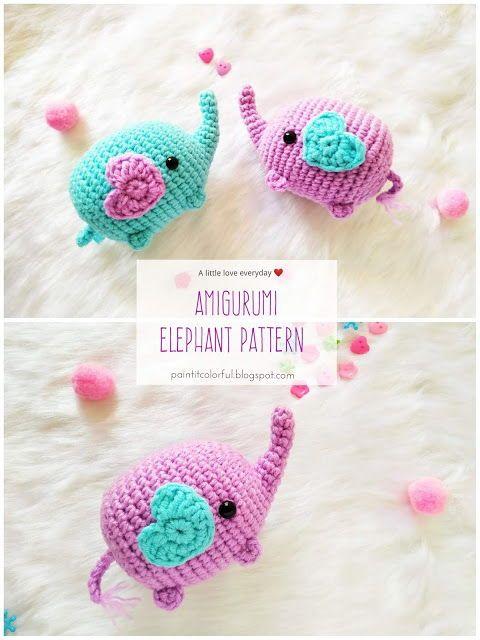 Amigurumi Elephant pattern - A little love everyday!