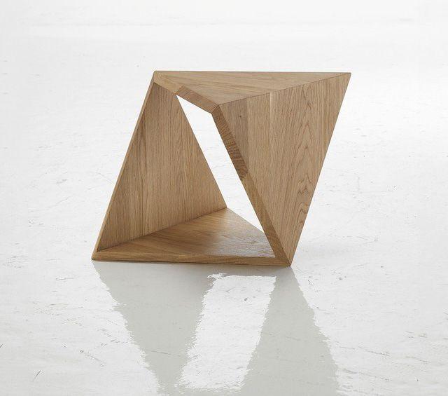 Tricubo Oak Coffee Table By Autori Vari Wood Design Coffee