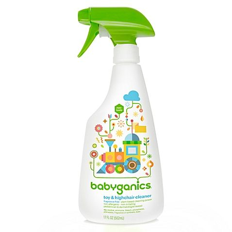 Babyganics 17 Oz Fragrance Free Toy Highchair Cleaner Safe