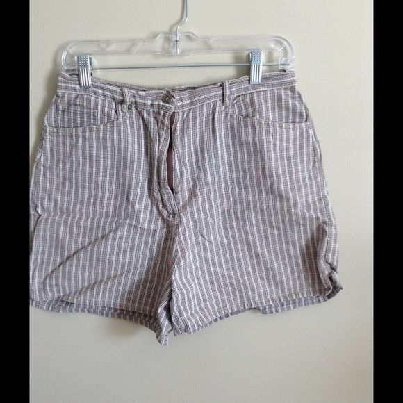 Brown and White Shorts. Route 66 brown and white checked shorts. 100% cotton. Route 66 Shorts