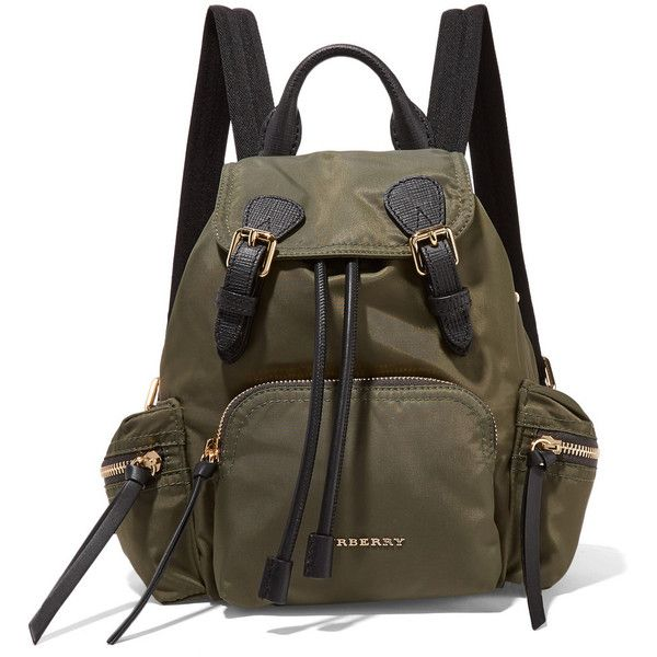 Burberry Prorsum Small leather-trimmed gabardine backpack (4.050 RON ... 67a949fc5d78b