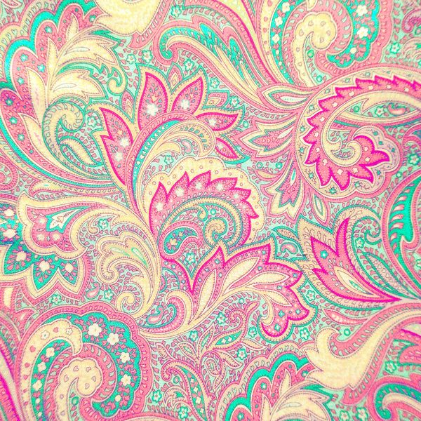 Pink Turquoise Girly Chic Floral Paisley Pattern Rug By: Pink Turquoise Girly Chic Floral Paisley Pattern Art Print