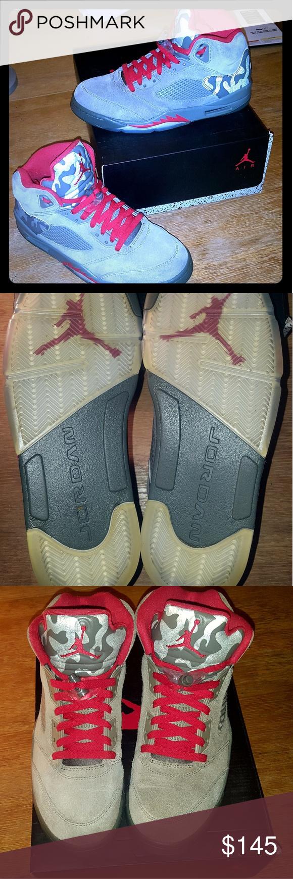 newest e472f bec84 Jordan Shoes   Nike Air Jordan Retro 5 P51 Camo Sz. 10.5 ...