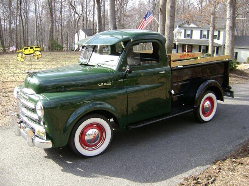 history of the dodge pickup trucks 1921 1953 1950 dodge series b 2 c 3 4 ton pickup for sale. Black Bedroom Furniture Sets. Home Design Ideas
