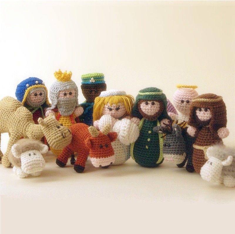 Nativity set complete - English patterns | crochet | Pinterest ...