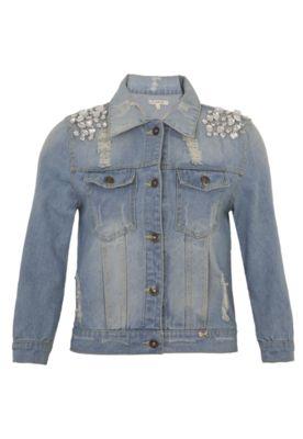 Jaqueta Jeans Lucy in The Sky Pedras Azul - Compre Agora | Dafiti
