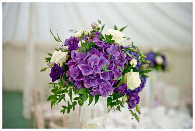 purple theme wedding venue flowers - Google Search