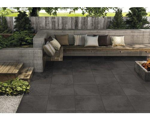 Hornbach Tegels Tuin : Keramische terrastegel slate black 60x60x2 cm tuin pinterest slate