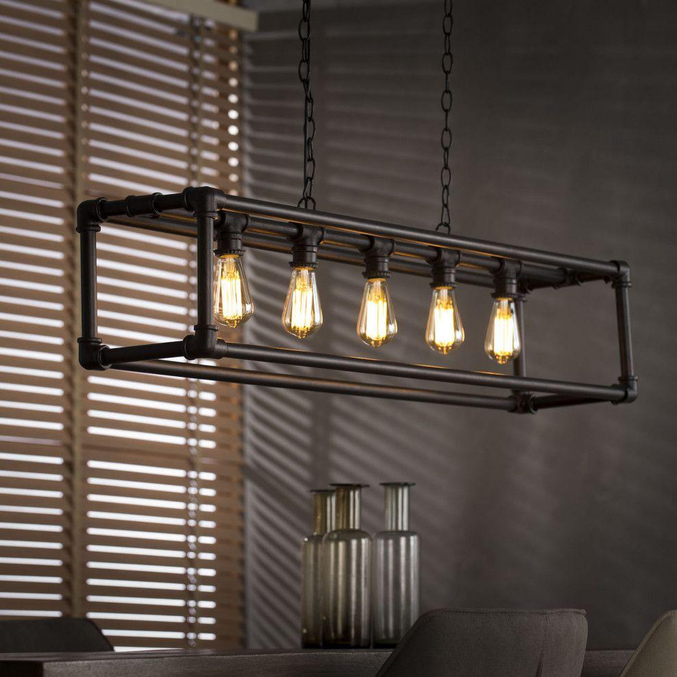 Verbazingwekkend Mioni Hanglamp 'Tubo' 5-lamps | Iluminación, Muebles industriales OU-64