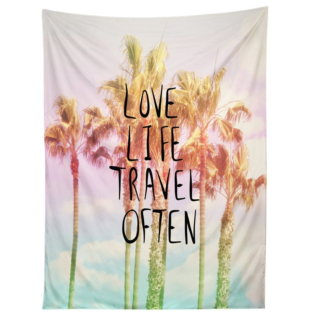 Lisa Argyropoulos Love Life Travel Often Tropical Tapestry   DENY Designs Home Accessories