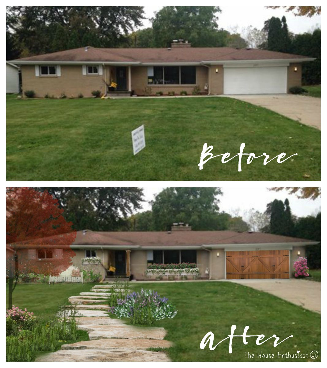Add a garage to my house - Remodelaholic Reader A Reader On Another Blog Asked What She Could Do To Her House