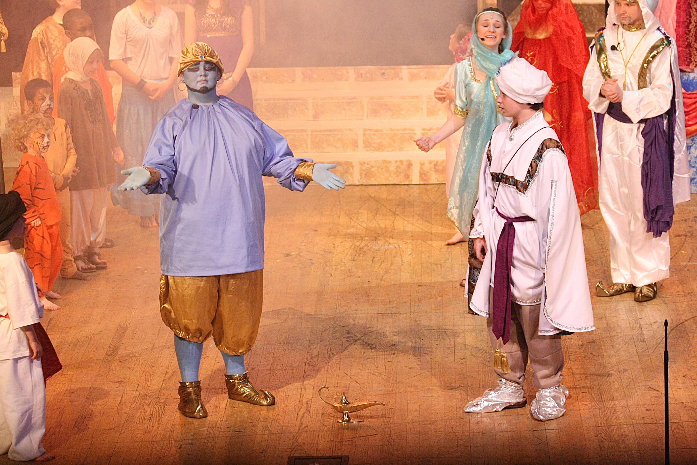 "Bluefield Youth Theatre at Bluefield College presents four performances of the Disney classic ""Aladdin.""  https://www.facebook.com/media/set/?set=a.10151525128043705.1073741838.56580013704=1"