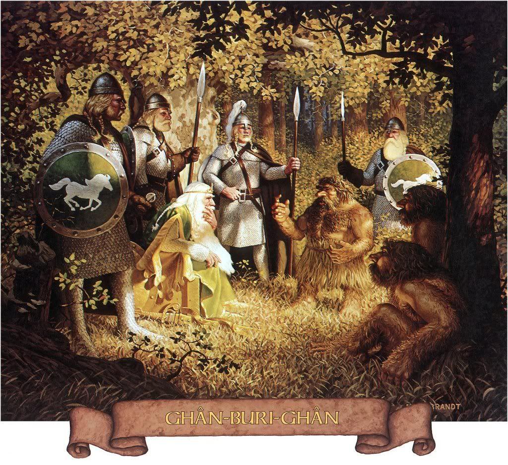 엘다르의 끝나지 않는 노래 Lotr 간부리간 우오세족의 위대한 족장 그림 반지의 제왕 판타지