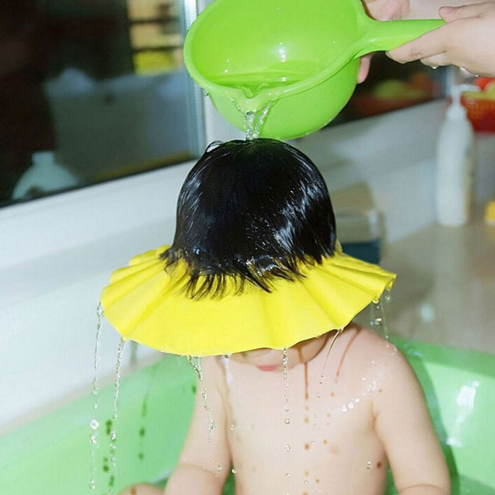 Adjustable Baby Kids Children Shampoo Bath Shower Cap Hat Wash Hair Shield .+