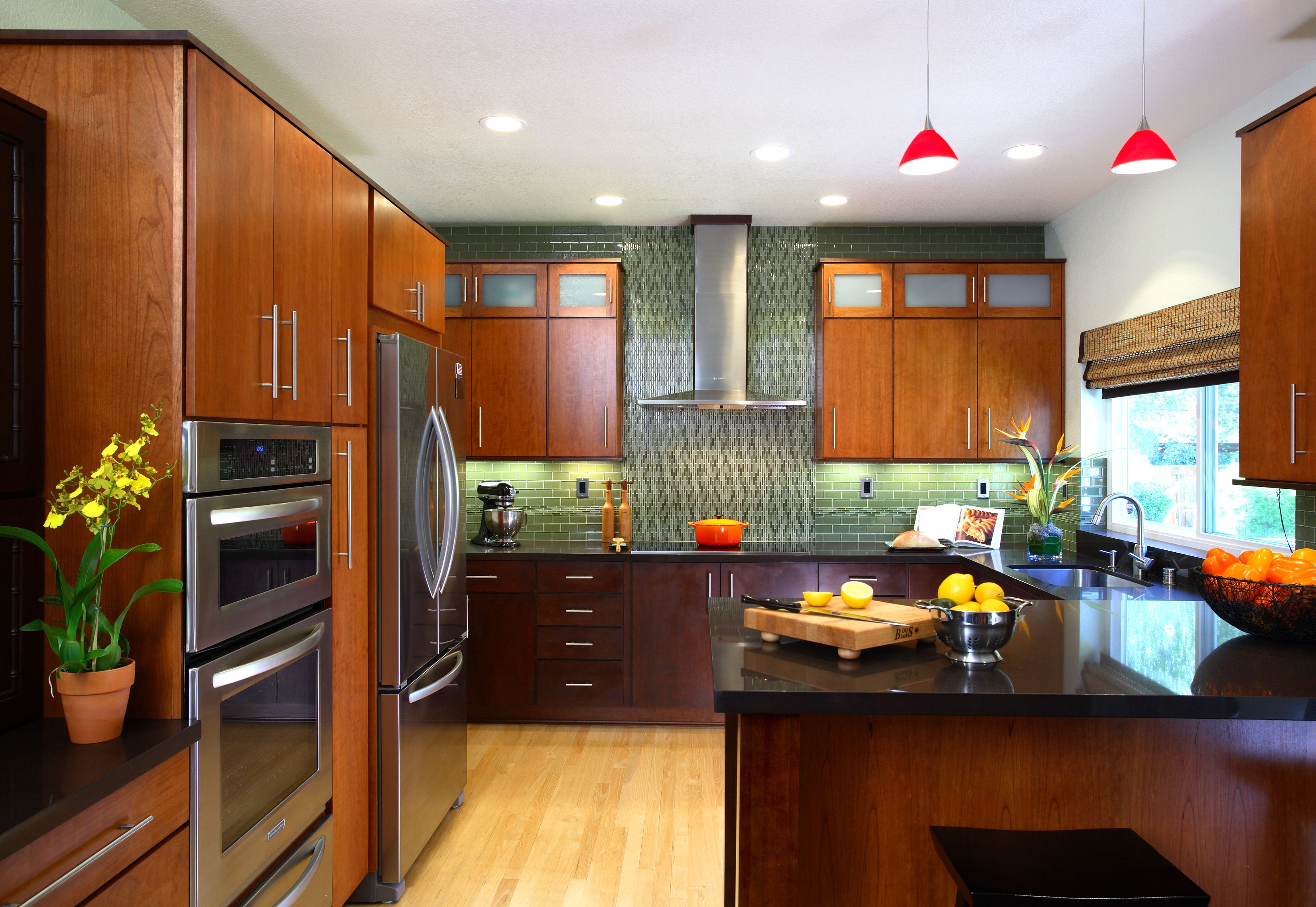 Tile Work Frosted Glass Wood Color Modern Kitchen Design Zen Kitchen Modern Zen Kitchen