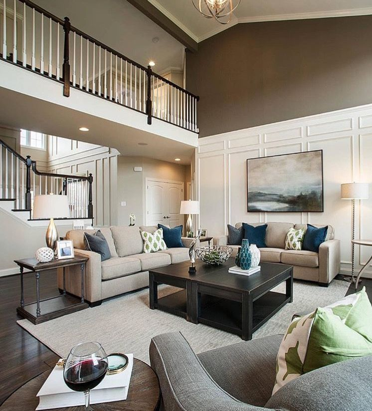 Strie On Living Room Accent Wall: Cosy Home Decor, Family Room