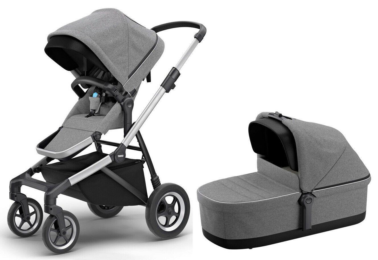 Thule Sleek Lightweight Pram System Double Stroller w