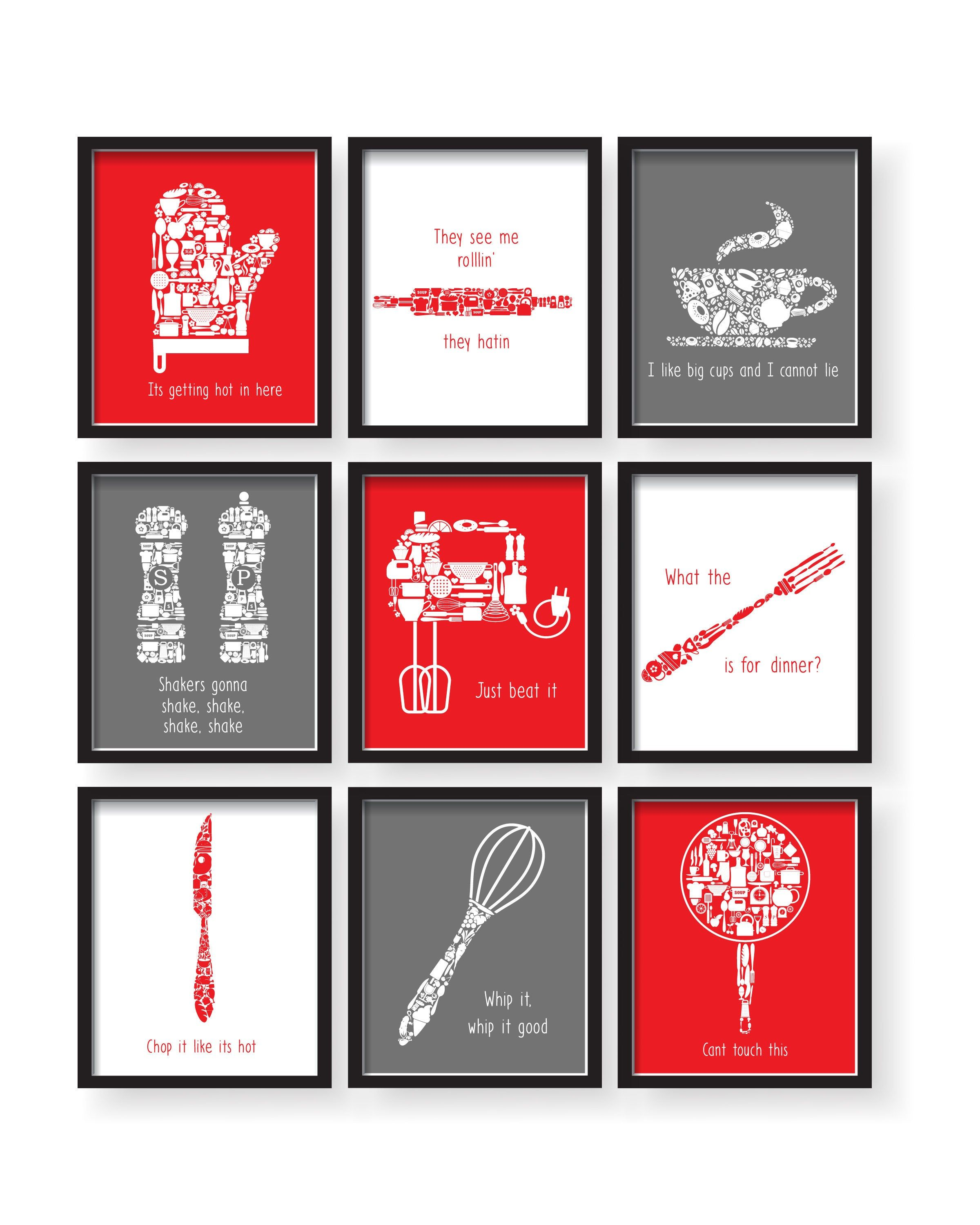 Red Kitchen Wall Art Red Dining Room Art Red Kitchen Decor Etsy Red Dining Room Kitchen Wall Art Red Kitchen Walls