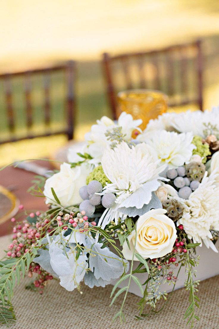 Wedding decorations without flowers  White winter wonderland wedding centerpieces  Winter wedding