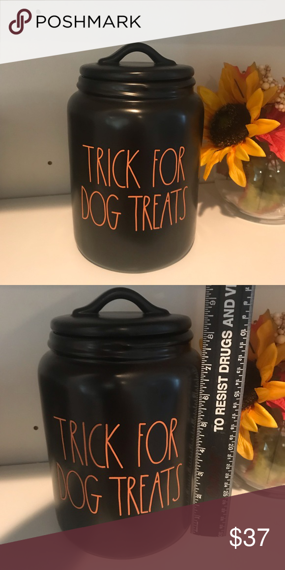 Rae Dunn TRICK FOR DOG TREATS canister Rae Dunn By magenta