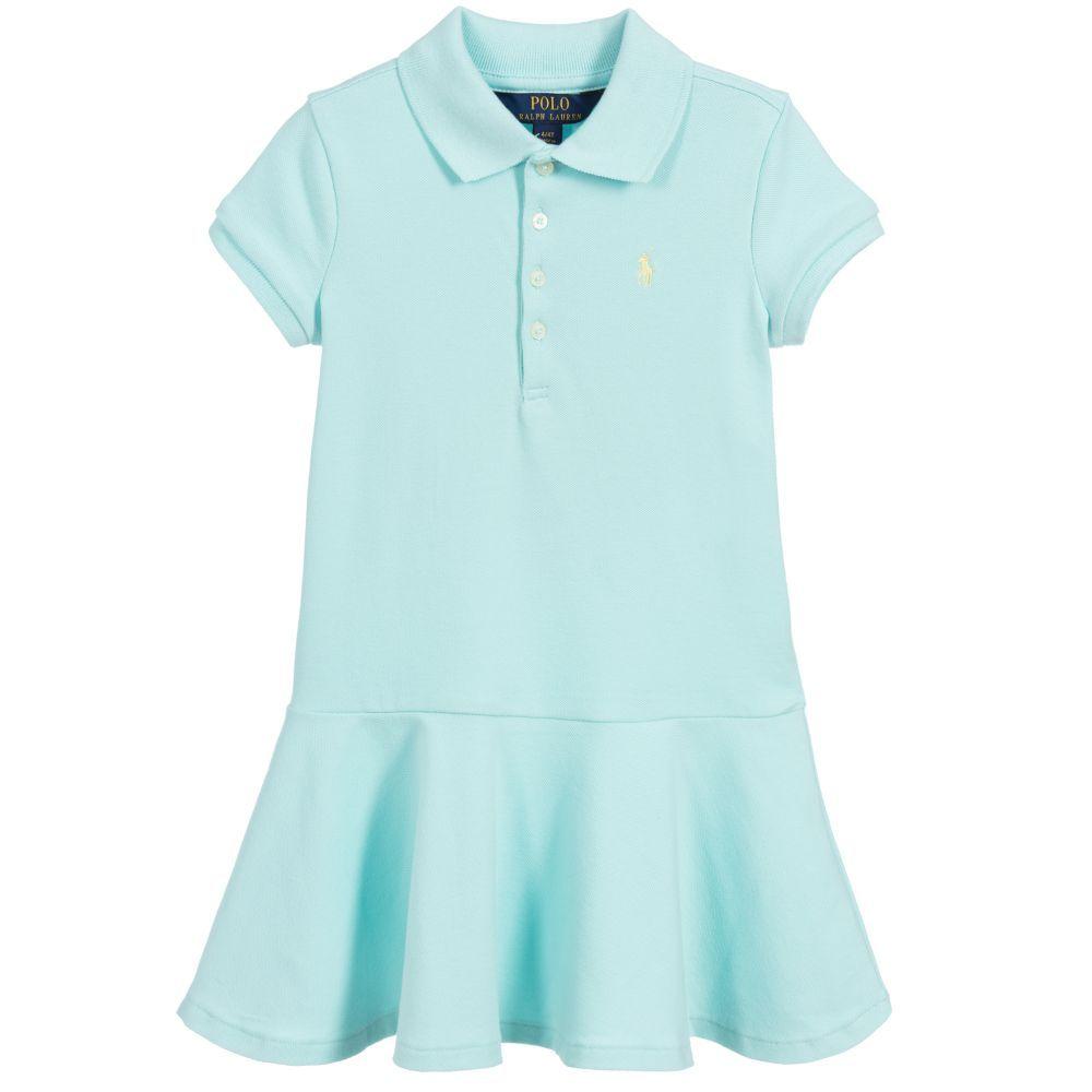 e4b3c6c84 Girls aqua blue dress by Polo Ralph Lauren