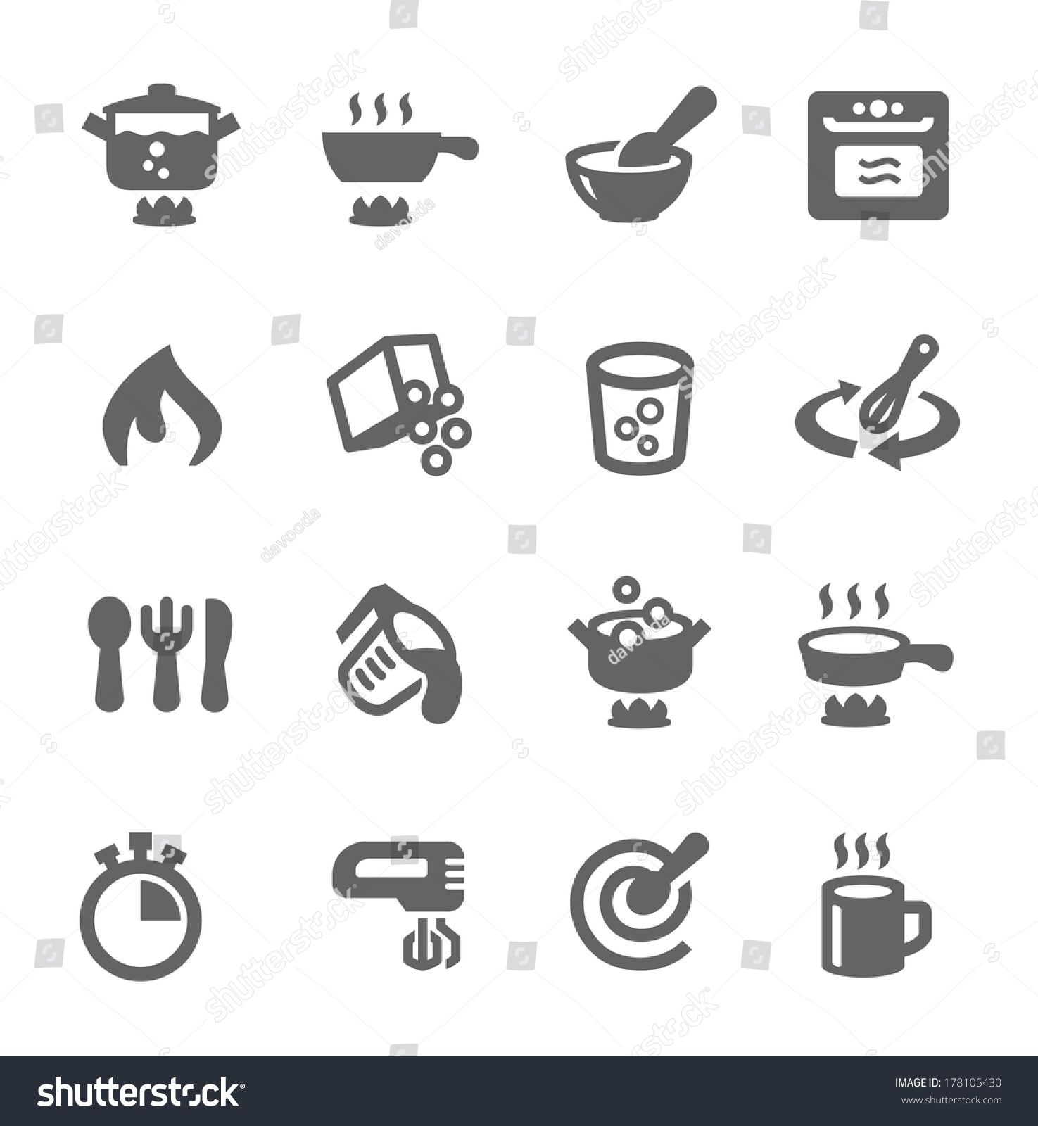 Simple set of cooking related vector icons for your design #Ad , #Affiliate, #cooking#set#Simple#related