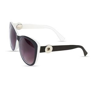 TOMS Bellevue Noir Brillant Sunglasses with Dark Grey Lens UDhpO