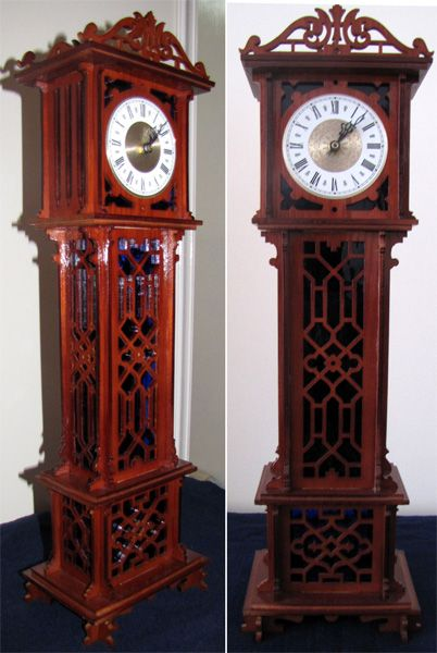 Chippendale Grandfather Clock Scroll Saw Fretwork Pattern