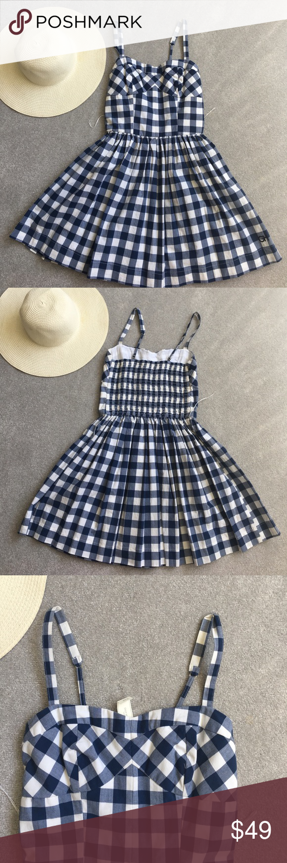 NWT Gilly Hicks Gingham Summer Dress - Medium NWT gingham print summer dress! So beautiful and perfect for the summer! 100% Cotton. Medium Gilly Hicks Dresses Mini