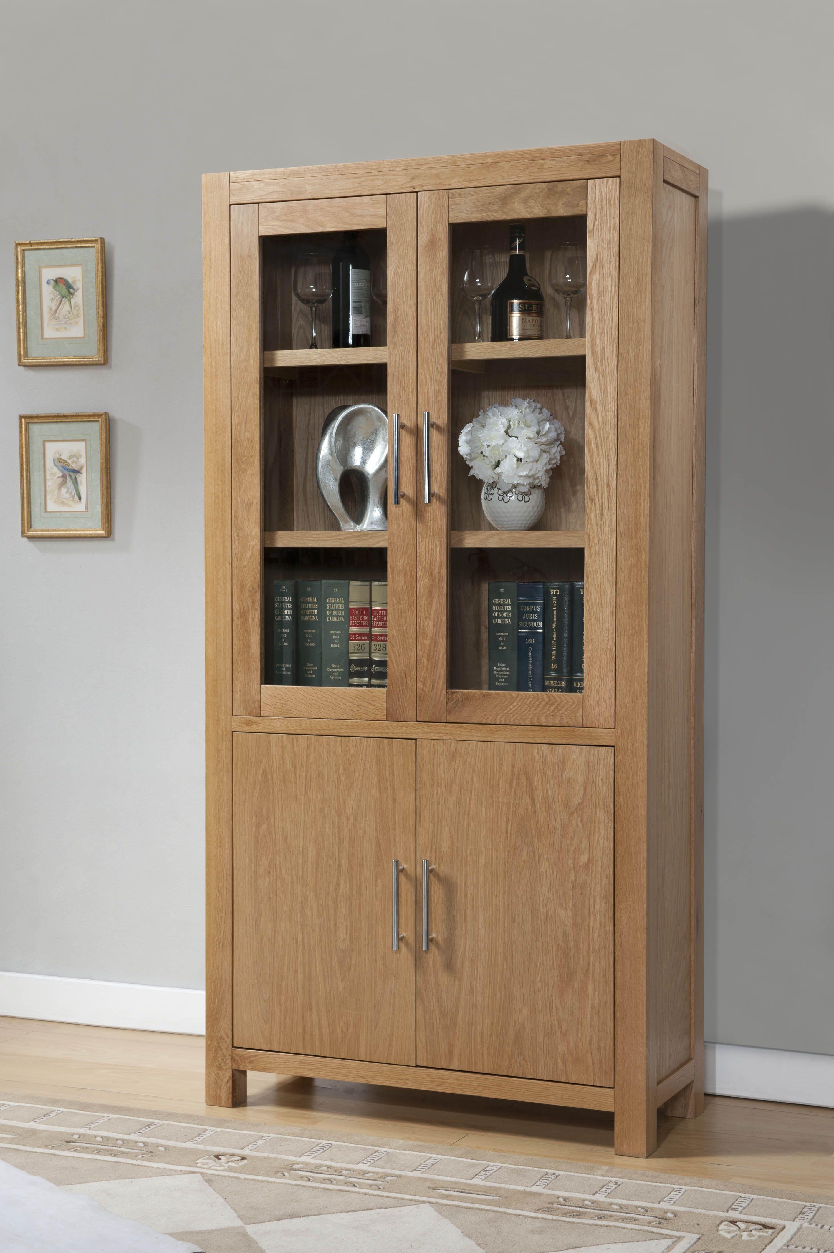 Birstall Oak Interior Furniture Modern Display Cabinet. Milano Oak Display Cabinet  Milano Oak Display Cabinet